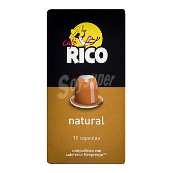 Nespresso Café natural en cápsulas Rico compatible con 10 unidades de 5 g