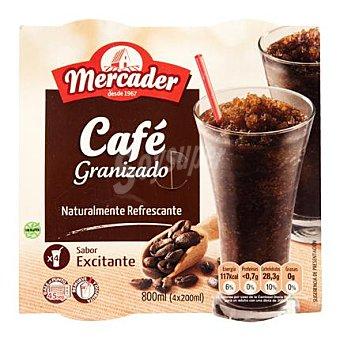MERCADER Café granizado Pack de 4x200 g