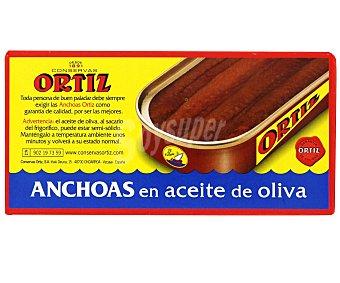 Conservas Ortiz Filetes de anchoa en aceite de oliva ecológico Lata 29 g neto escurrido