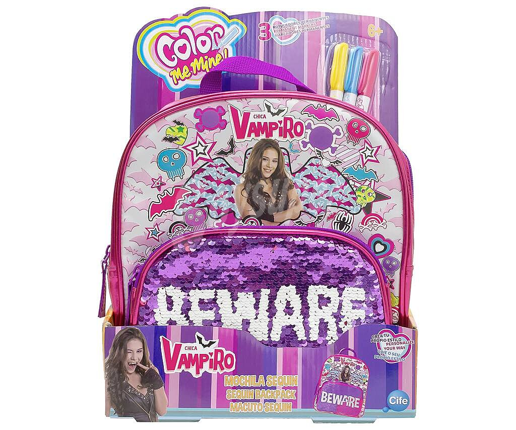 Cife Color Me Mine Mochila Personalizable Para Colorear Chica Vampiro Color Me Mine Cife