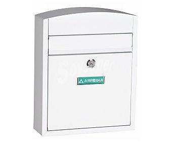 ARREGUI Buzón Compacto Fabricado en Acero Color Blanco, Medidas: 285x240x95 Milímetros, Medidas Boca: 205x24 Milímetros 1 Unidad