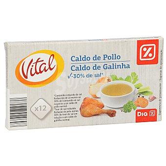 DIA Caldo de pollo bajo en sal  Estuche 12 pastillas