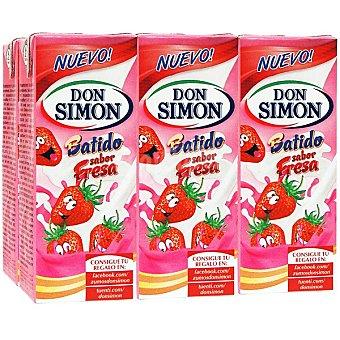 Don Simón Batido de fresa Pack 6 envases 200 ml