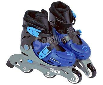 Saica Patines en línea color azul ajustables de la talla 28-31, Skate SAICA.