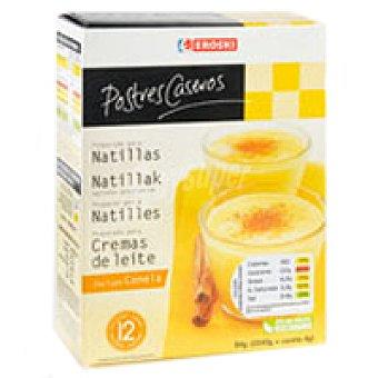 Eroski Natillas de vainilla Caja 84 g