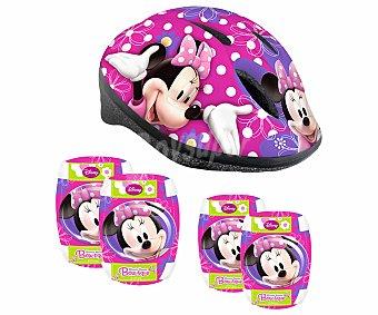 Disney Casco, 2 Coderas y 2 Rodilleras Infantiles, Minnie 1u