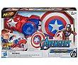 Lanza escudo Power Moves de Capitán América, Nerf Vengadores. Los vengadores