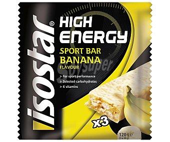 High Energy de ISOSTAR Barritas banana 3 barritas (120 gramos)