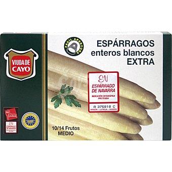 Viuda de Cayo Espárragos blancos D.O. Navarra 10-14 piezas Lata 125 g neto escurrido