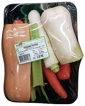 Verdura puchero (con calabaza y judia verde), varios, bandeja 1300 g aprox(peso aproximado de la ) Unidad 1300 gr