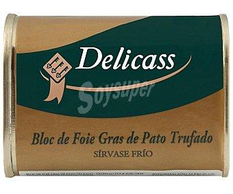 Delicass Bloc de foie gras de pato trufado Lata 145 g