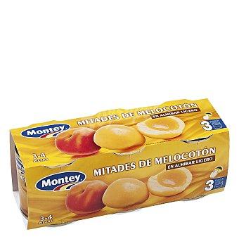 Montey Mitades de melocotón en almíbar ligero 600 g