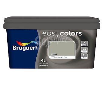 BRUGUER Pintura plástica acrílica decorativa, de color marrón arena y con acabado mate, de la serie Easy Colors 4 litros