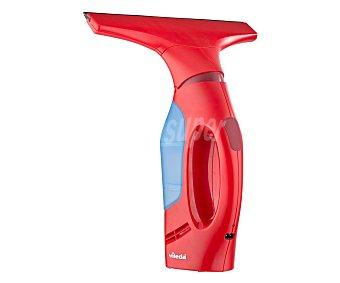 VILEDA WINDOMATIC Aspirador limpiacristales, cabezal flexible, depósito de agua fácil de vaciar, para todo tipo de superficies lisas, batería de litio,