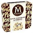 Helado de chocolate blanco con trocitos de cookies Pack 3 x 90 ml Magnum Frigo