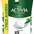 Yogur con bífidus naturales y sabor natural Pack 8 u x 125 g Activia Danone