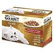 Comida para gatos gold bocaditos de carne y salmón en salsa Pack 12 envases x 85 g  Purina Gourmet