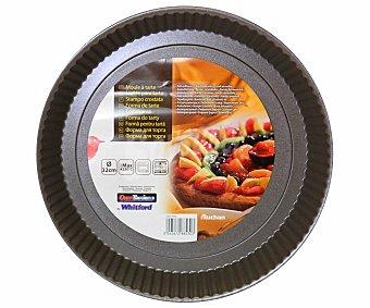 Auchan Molde de 32 centímetros de diámetro, recubrimiento antiadherente, bordes acanalados y fondo desmontable 1 Unidad