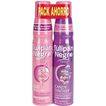 Tulipan Negro Desodorante kiss fresa y nata + desodorante candy fantasy envase 2 unidades Envase 2 unidades