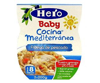 Hero Baby Tarritos de fideuá con pescado 2 unidades de 200 gramos