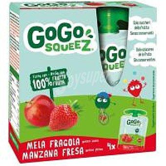 Gogo Squeez Fruta triturada manzana-fresa 100% 4 x 90 g