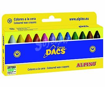 Alpino Caja de 12 ceras blandas para colorear, ideales para uso escolar 1 unidad