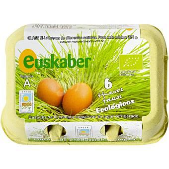 EUSKABER Huevos frescos clase M-L ecológicos Estuche 6 unidades