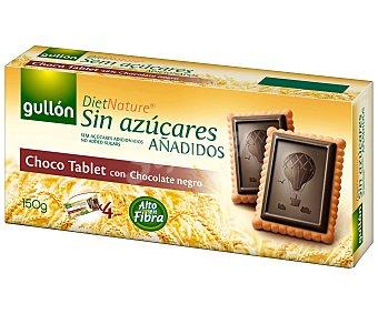 Diet Nature Galleta choco tablet con chocolate negro sin azúcar añadido Gullón 150 g