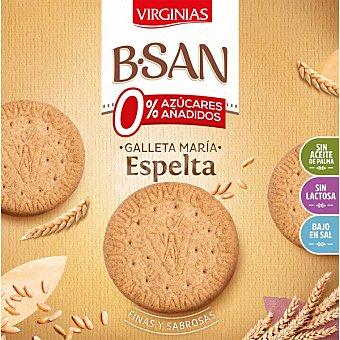 Virginias B-San Galletas integrales con espelta sin azúcares añadidos ni lactosa Caja 300 g