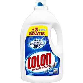 COLON detergente máquina líquido gel azul concentrado botella 46 dosis + 3 gratis