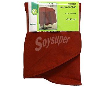 Productos Económicos Alcampo Mantel 100% poliéster, color rojo liso, 140x180 centímetros 1 Unidad