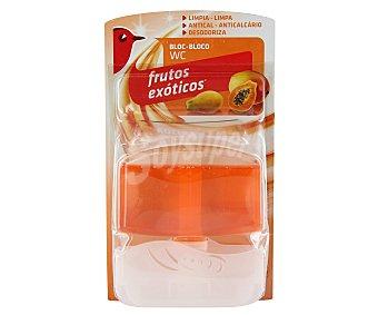 Auchan Colgador de WC más recambio, fragancia frutos exóticos, para limpiar, blanquear y perfumar el WC 1 unidad