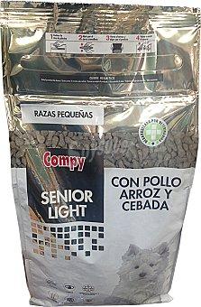 Compy Comida perro razas pequeñas senior light croqueta arroz pollo Paquete de 800 g
