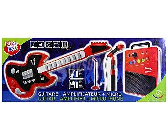 RIK & ROK Conjunto de Guitarra, Micro y Amplificador 1 Unidad