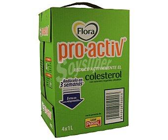 Pascual Preparado de fibra. Flora Pro-Activ. 4 unidades de 1 litro