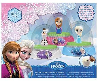 Disney Juego creativo de pintura, pinta tus figuras y crea tus bolas de cristal con purpurina 1 unidad