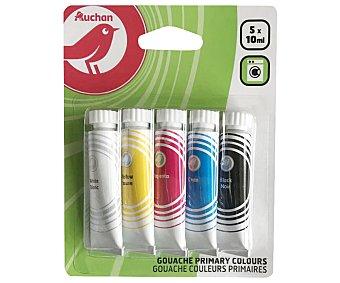 Producto Alcampo Pack de 5 tubos de tempera de 10 ml, colores complementarios alcampo