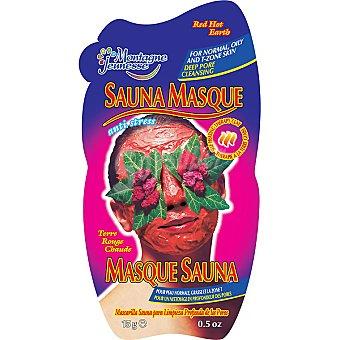 Montagne Jeunesse Mascarilla facial sauna de Tierra Roja para limpieza profunda de los poros envase 15 g anti-estréss Envase 15 g