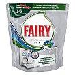 Lavavajillas máquina Platinum todo en uno en pastillas 36 ud Fairy