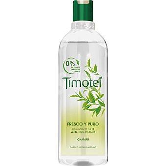 Timotei Champú Fresco y Puro con extracto de té verde orgánico frasco 400 ml para cabello normal a graso Frasco 400 ml