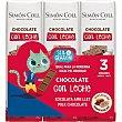 Chocolatinas de chocolate con leche sin gluten en Pack de 3 unidades 18 g Simón Coll