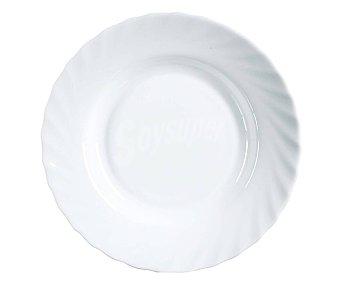 Luminarc Plato hondo de vidrio color blanco, 22,5cm. Trianon luminarc
