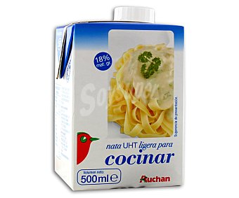 Auchan Nata para Cocinar Ligera Brik 500ml