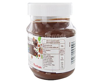 Auchan Crema de cacao, avellanas y leche desnatada 400 gramos
