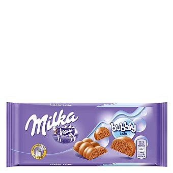Milka Chocolate con leche Bubbly Luflée Tableta 100 g