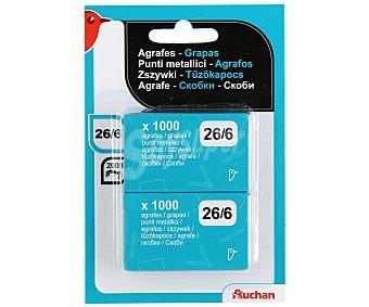 Auchan Caja de 1000 Grapas Número 26/6 1000 unidades