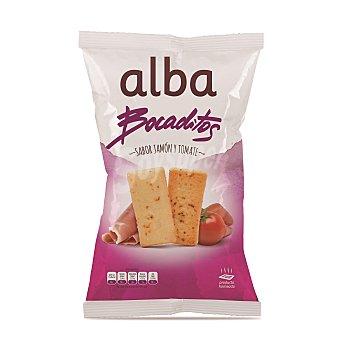 Alba Bocaditos sabor jamón y tomate Bolsa 110 g
