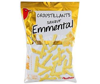 Auchan Aperitivo de snack crujientes de queso emmental 90 gramos