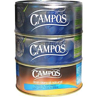 CAMPOS bonito en aceite de oliva neto escurrido pack 2 lata 104 g