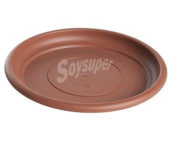 VAN Plato circular de plástico de color terracota y medida de 26 centímetros 1 unidad